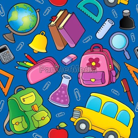 school theme seamless background 2