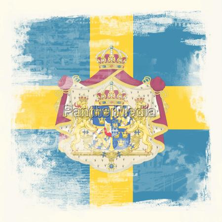grunge flagge schweden