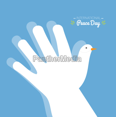international peace day with hand making
