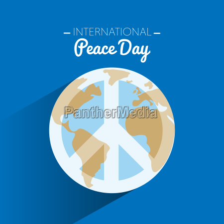 international peace day with symbol of