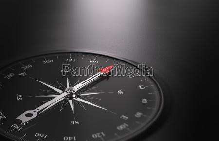 business orientation hintergrund kompass auf der