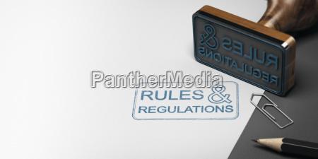 regeln und vorschriften hintergrund