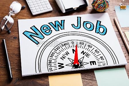 neues job beschaeftigungs konzept