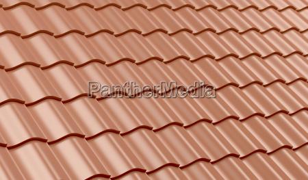 dachziegel aus rotem ton