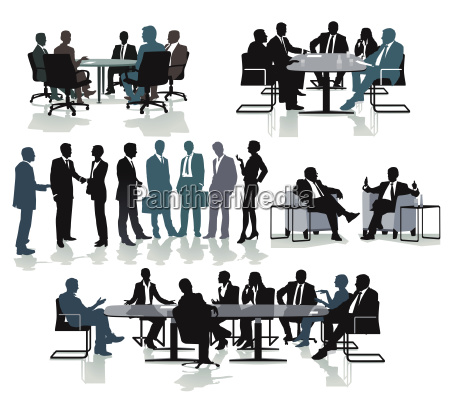 geschaeftsleuten beim beraten und meeting