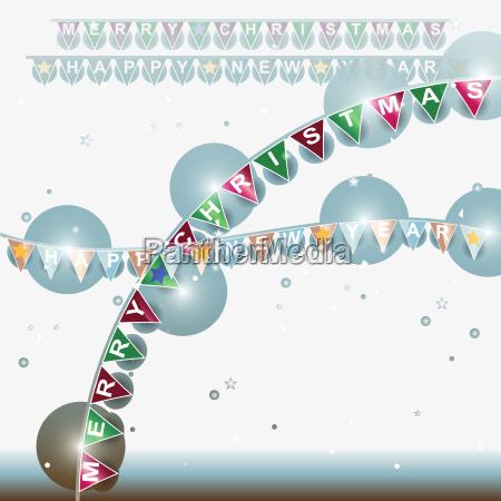 illustration party feier fest fahne glaenzend