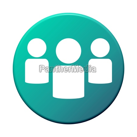 round blue green button group