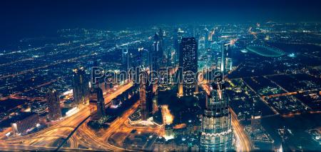 panoramablick auf die stadt dubai
