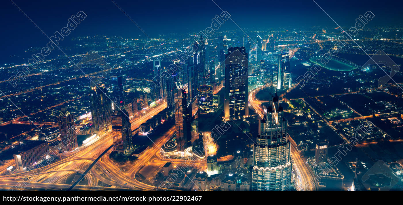 panoramablick, auf, die, stadt, dubai - 22902467