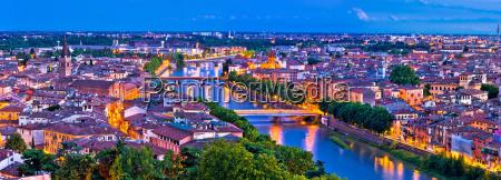 verona old city and adige river