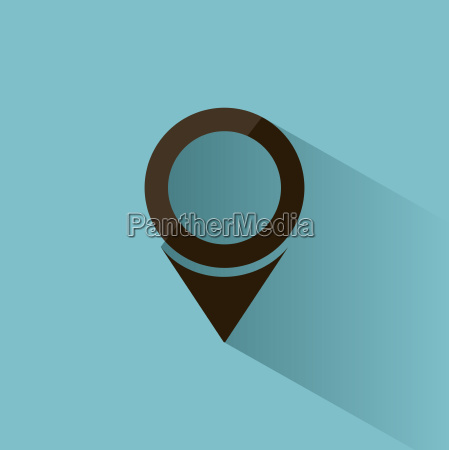 isolated location icon for maps on