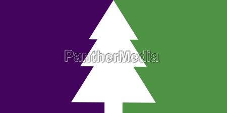 schlichte weihnachtskarte mit tannenbaum lila gruen