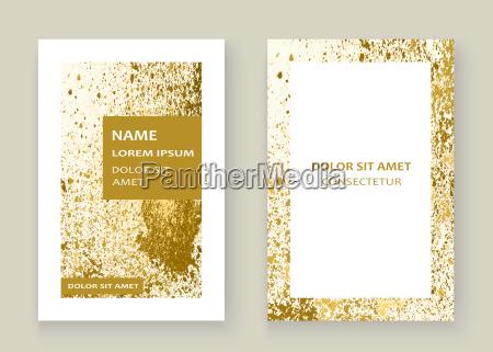 goldfarbenspritzen kuenstlerisches rahmenabdeckungsdesign des splatterexplosionsfunkelns goldene