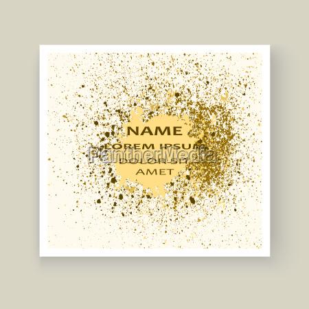 gold farbe spritzer splatter explosion glitzer