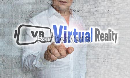 virtual reality mit matrix und businessman