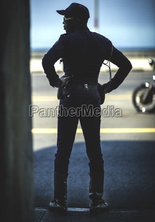 rear view of man standing in