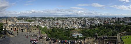 grossbritannien schottland edinburgh panoramablick auf die