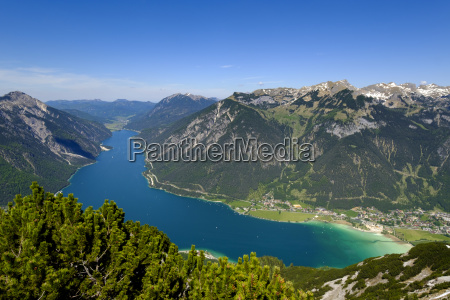 austria tyrol view to achensee with