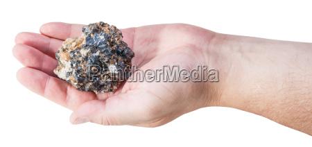 stueck zink und blei mineralerz auf