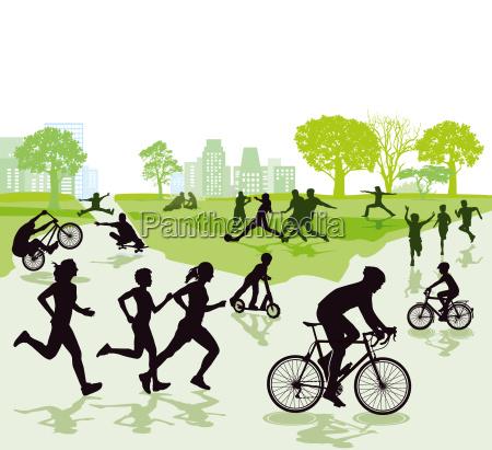 menschen in der freizeit und sport