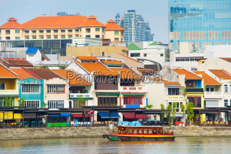 boat quay overview singapore