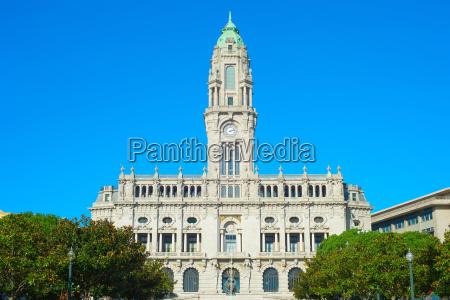 city hall of porto portugal
