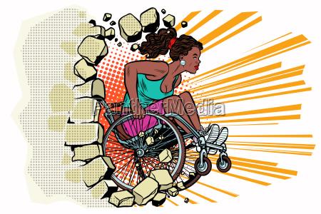 black woman athlete in a wheelchair