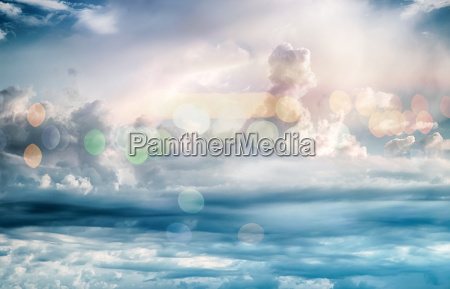 sky clouds art sunrise background bokeh