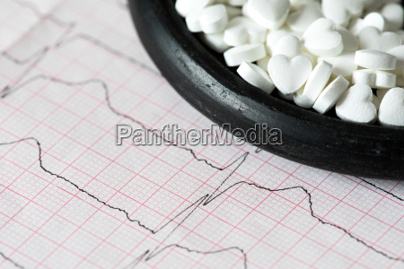kardiologie makro von ekg grafik und