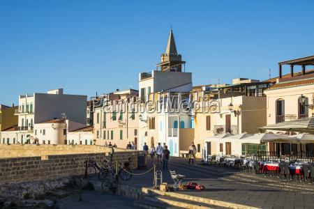 ocean promenade in the coastal town