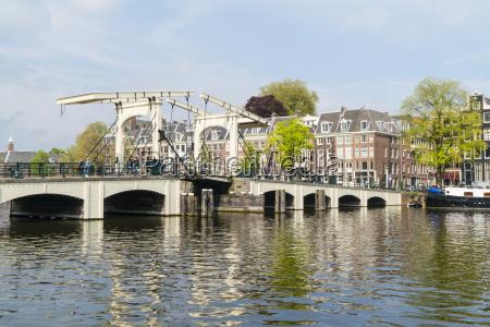 magere brug die duenne brueckeamsterdamdie niederlandeeuropa