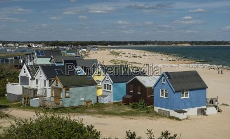beach huts mudeford spit christchurch harbour