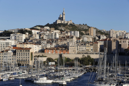 marseille old harbour and notre dame