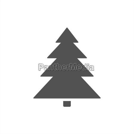 weihnachtsbaum ikone auf weissem hintergrund