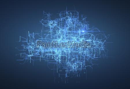 digitale vernetzung kuenstliche intelligenz und datenspeicherkonzept