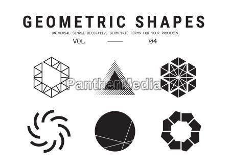 universal geometrische formen gesetzt