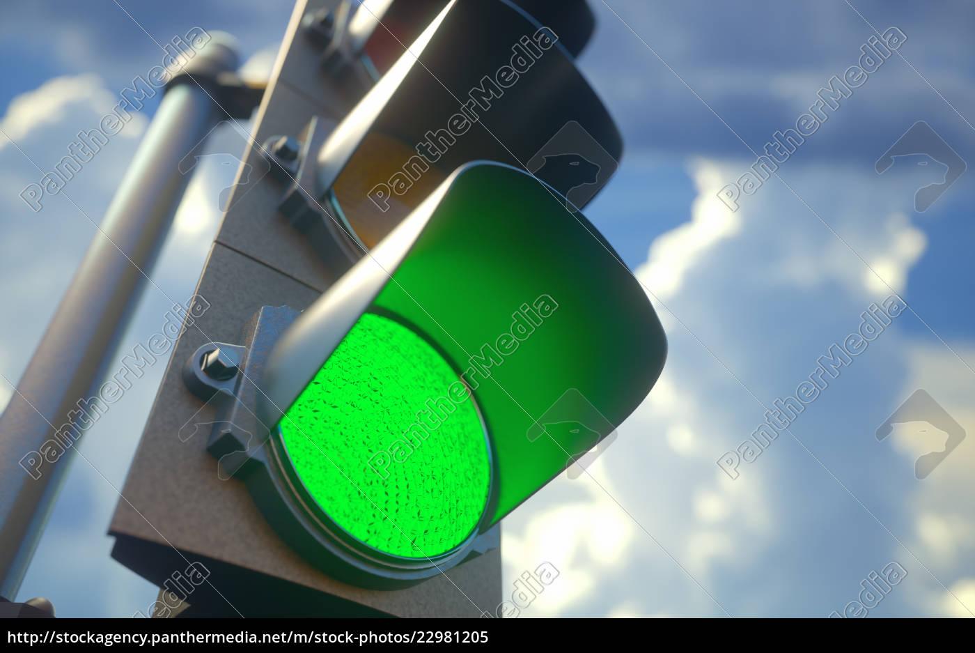 ampel, grün - 22981205