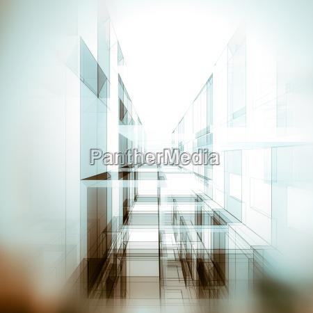 architect tunnel 3d rendering scene