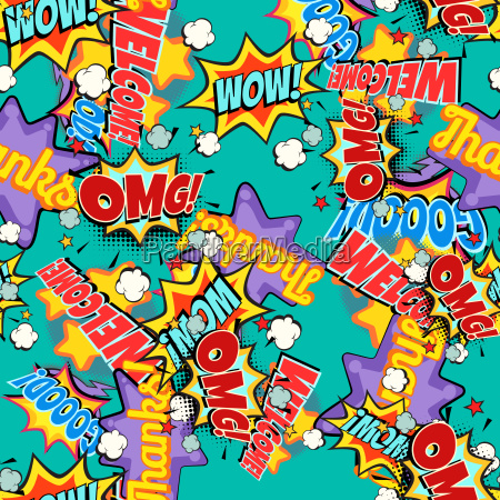 comic book words pop art background