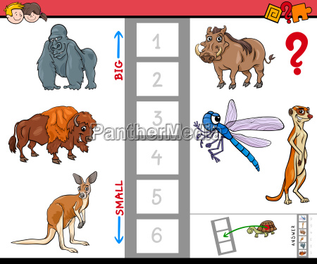 biggest and smallest animal cartoon game