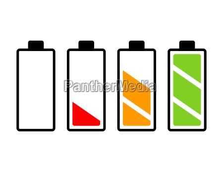 batterieladestand vektorsymbol design schoene illustration isoliert