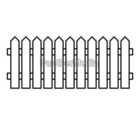 wooden fence silhouette isolated vector symbol