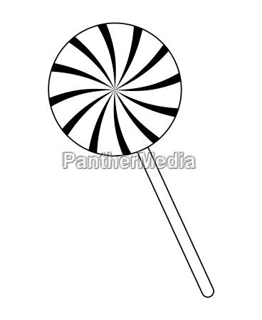 swirl striped lollipop pfefferminz vektor symbol