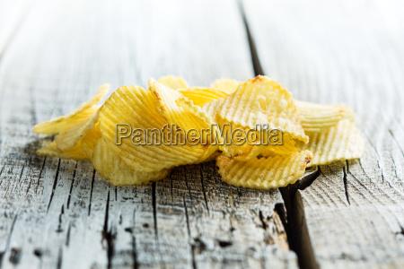 knusprige kartoffelchips