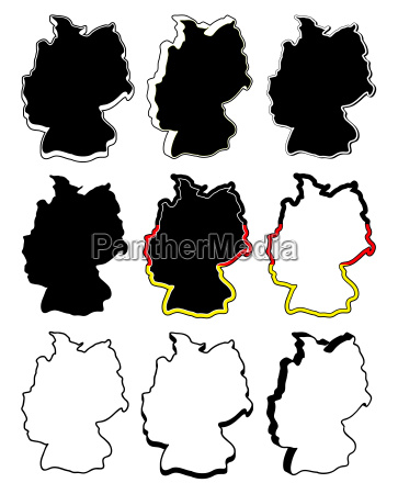 germany map vector symbol set icon