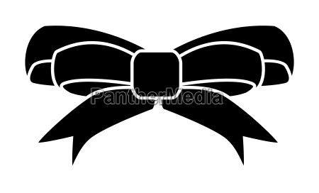 ribbon bow for christmas present symbol