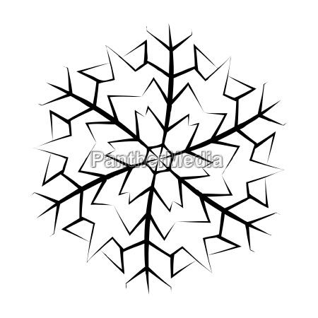 snowflake silhouette icon symbol design winter