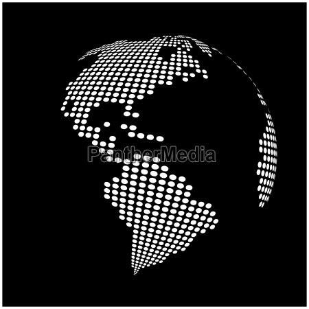 globe earth world map abstract
