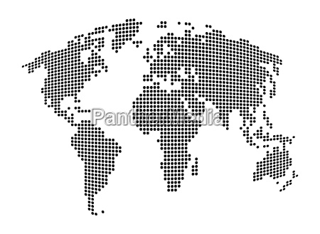 world map abstract dotted vector