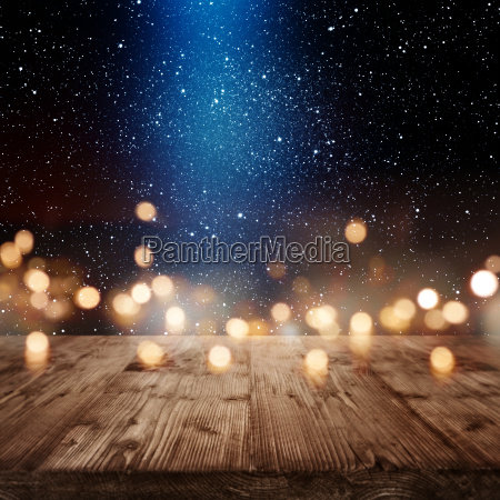 christmas background with light effects